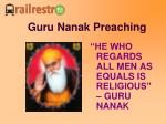 guru nanak preaching