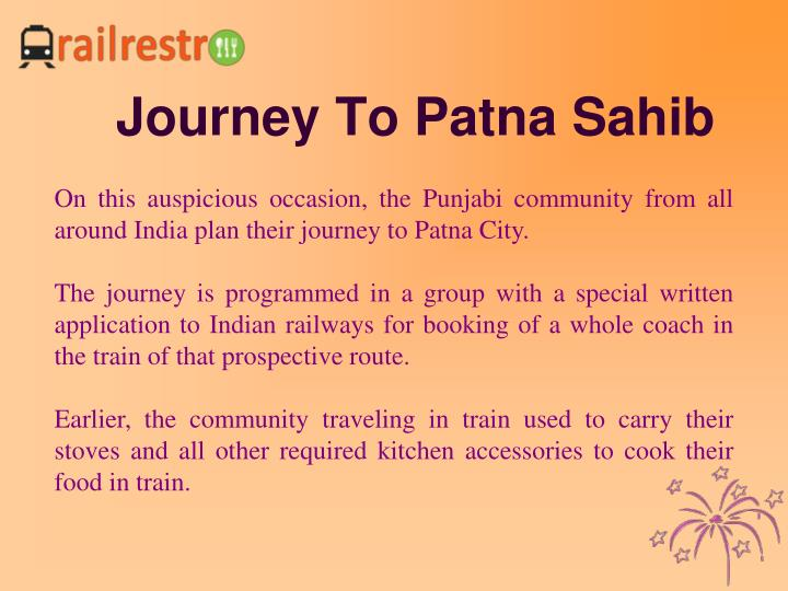 Journey To Patna Sahib