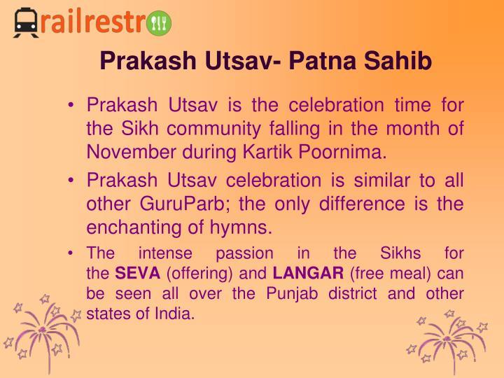 Prakash Utsav- Patna Sahib