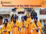 procession of the sikh devotees