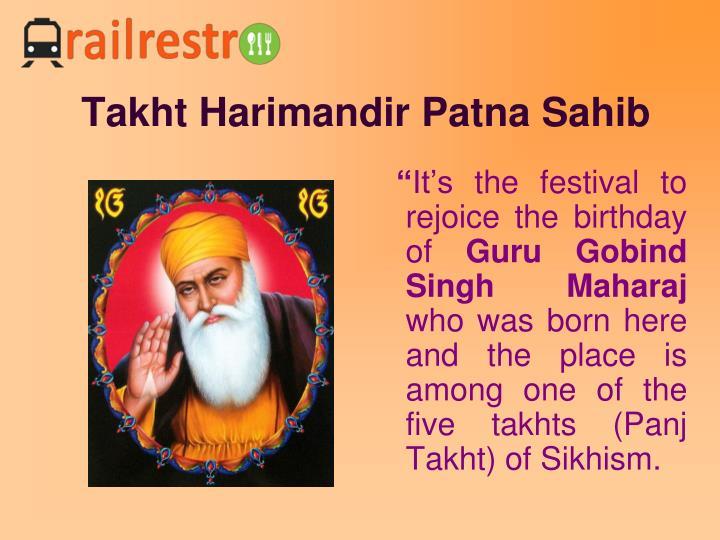 Takht Harimandir Patna Sahib