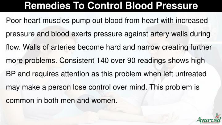 Remedies To Control Blood Pressure