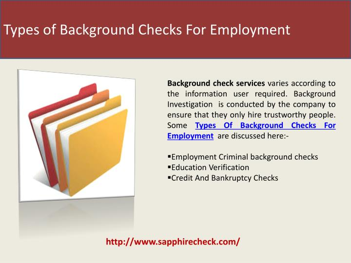 Types of Background Checks For Employment
