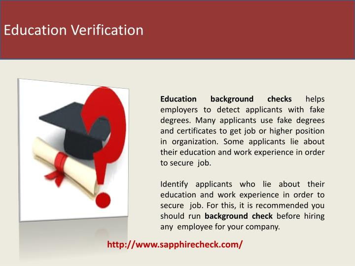 Education Verification