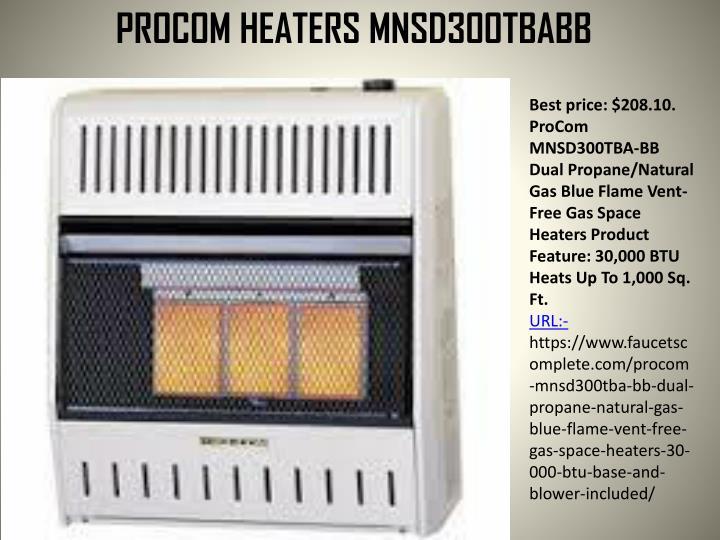 PROCOM HEATERS MNSD300TBABB