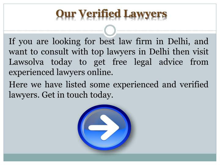 Our Verified Lawyers