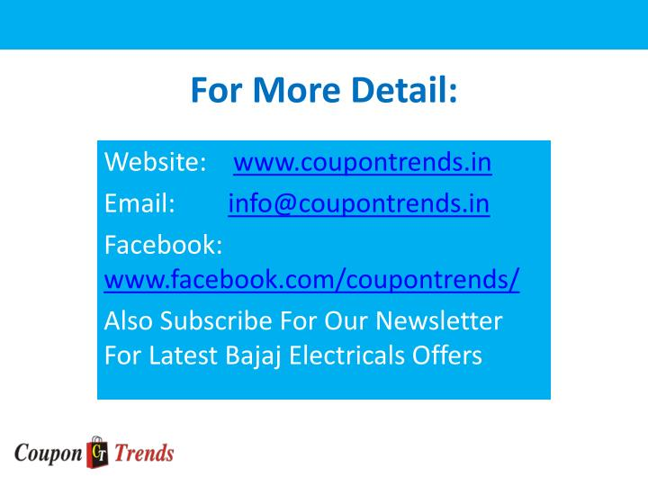 For More Detail: