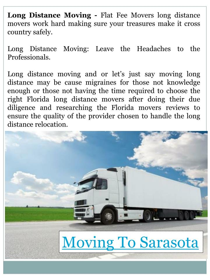 Long Distance Moving -