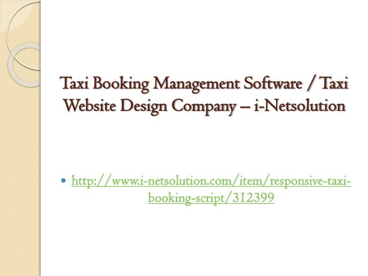 Taxi booking management software taxi website design company i netsolution