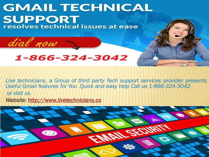 Live technicians, a Group of third party Tech support services provider presents