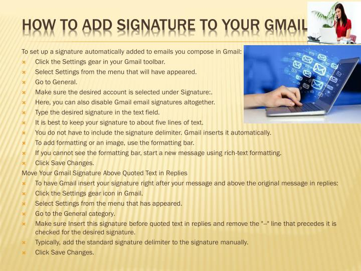 HOW TO ADD SIGNATURE TO YOUR GMAIL.