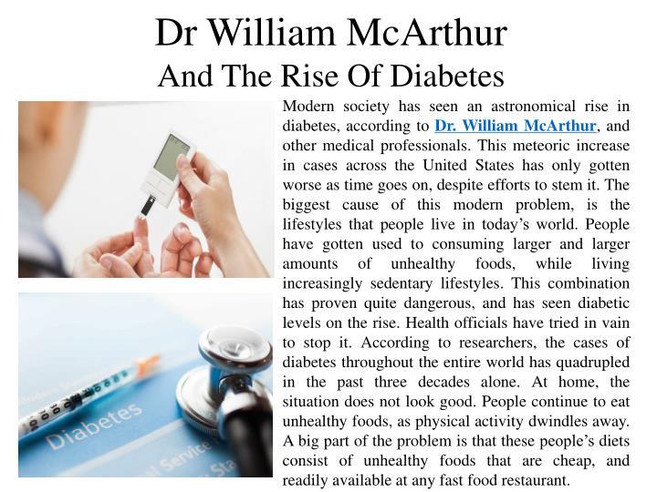 Dr William McArthur