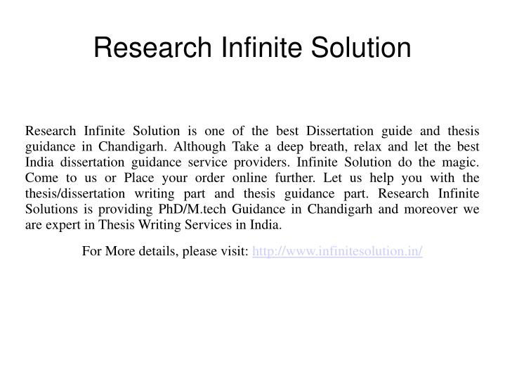 Research infinite solution
