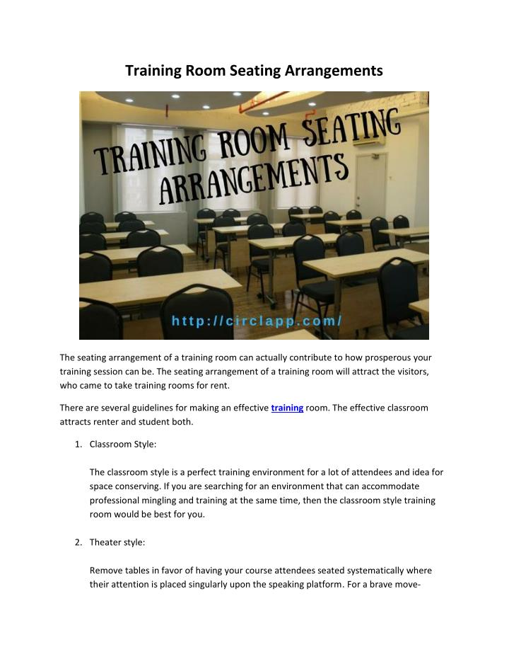 Training Room Seating Arrangements