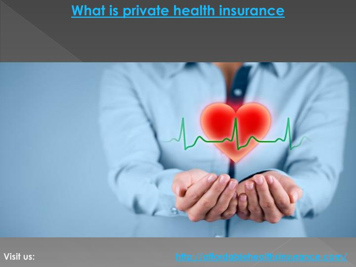What is private health insurance