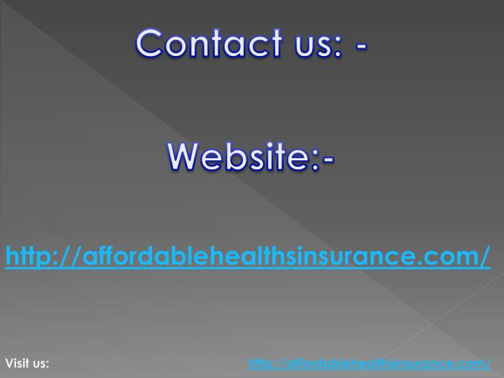 Contact us: -