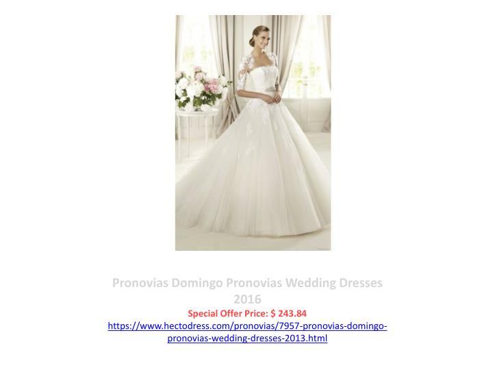 Pronovias Domingo Pronovias Wedding Dresses 2016