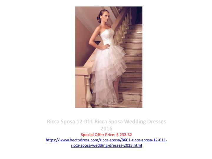 Ricca Sposa 12-011 Ricca Sposa Wedding Dresses 2016