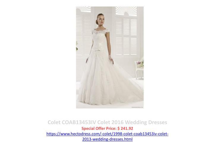 Colet COAB13453IV Colet 2016 Wedding Dresses
