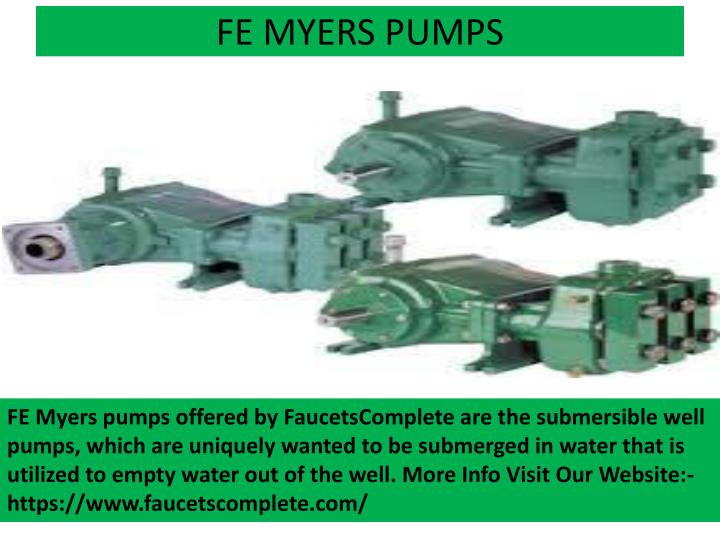 FE MYERS PUMPS