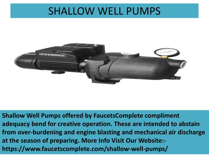SHALLOW WELL PUMPS
