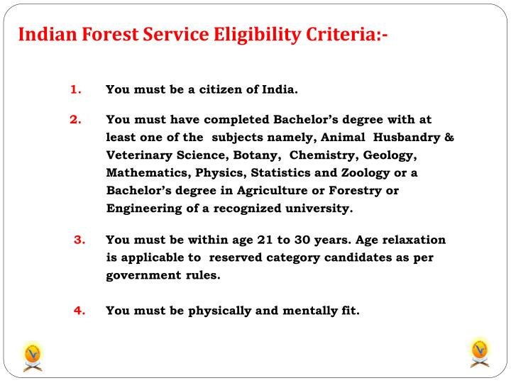 Indian Forest Service Eligibility