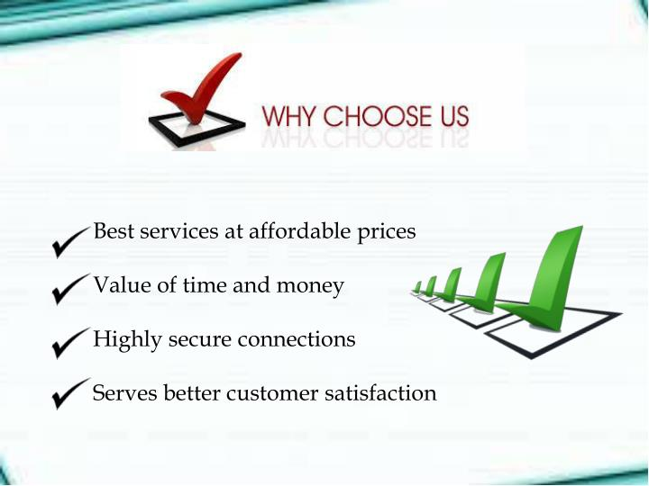Best services at affordable prices