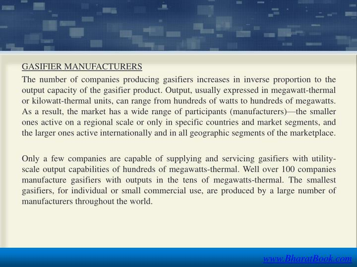 GASIFIER MANUFACTURERS