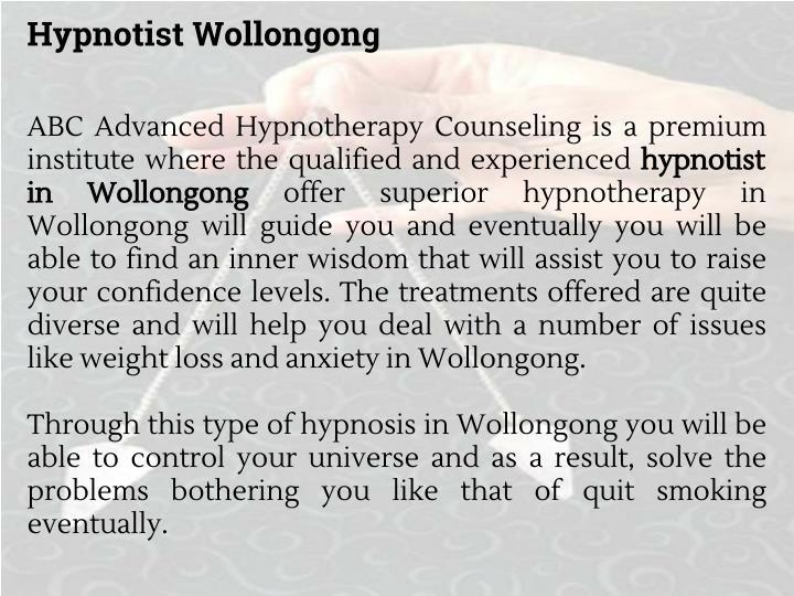Hypnotist Wollongong