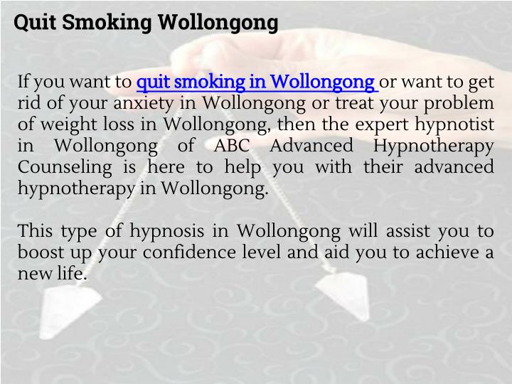 Quit Smoking Wollongong