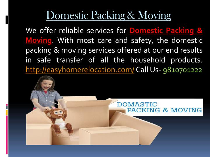 Domestic Packing & Moving