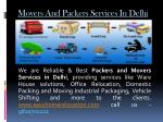movers and packers services in delhi