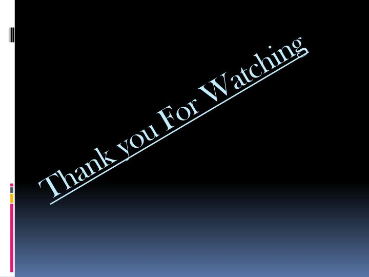 Thank you For Watching