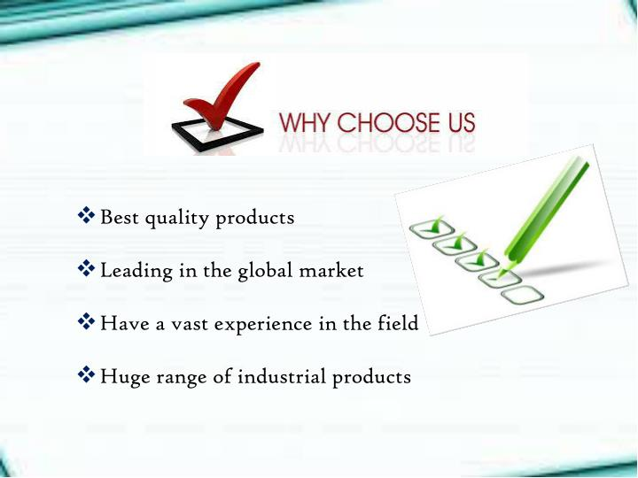Best quality products