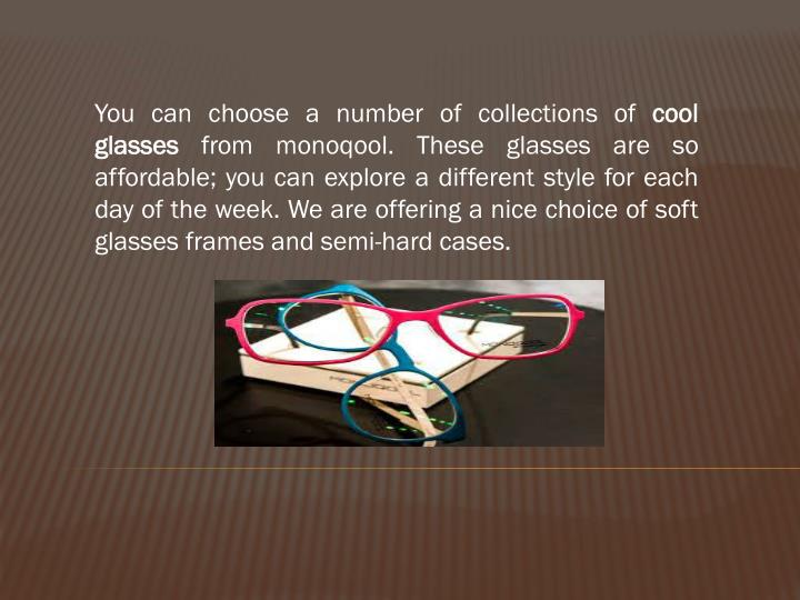 You can choose a number of collections of