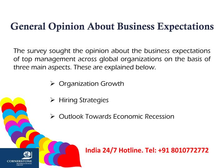 General Opinion About Business Expectations