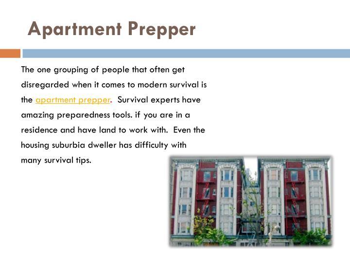 Apartment Prepper