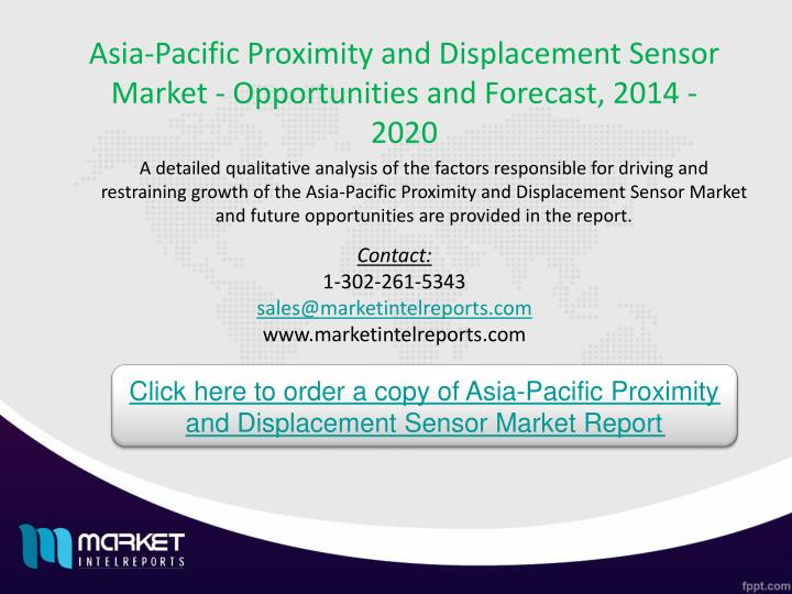 Asia-Pacific Proximity and Displacement Sensor Market - Opportunities and Forecast, 2014 - 2020