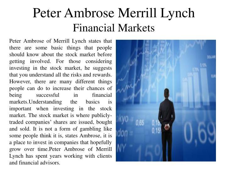 Peter Ambrose Merrill Lynch