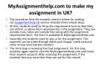 myassignmenthelp com to make my assignment in uk