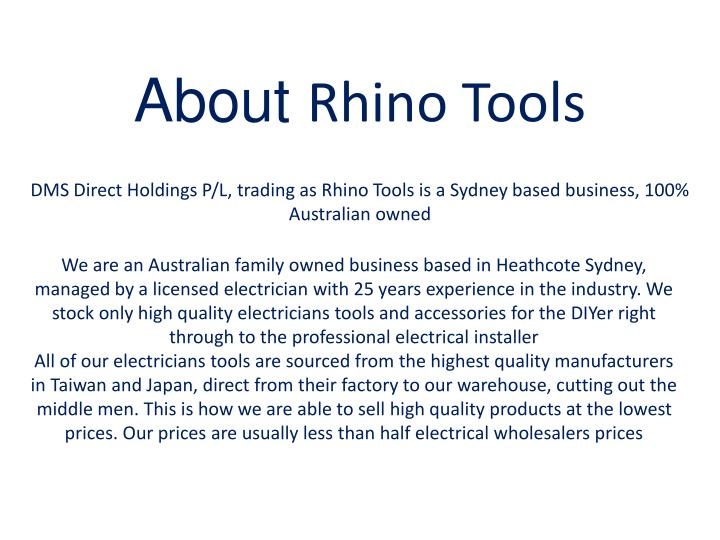 About rhino tools