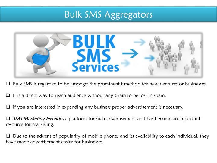 Bulk SMS Aggregators