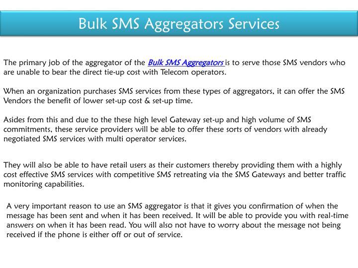 Bulk SMS Aggregators Services