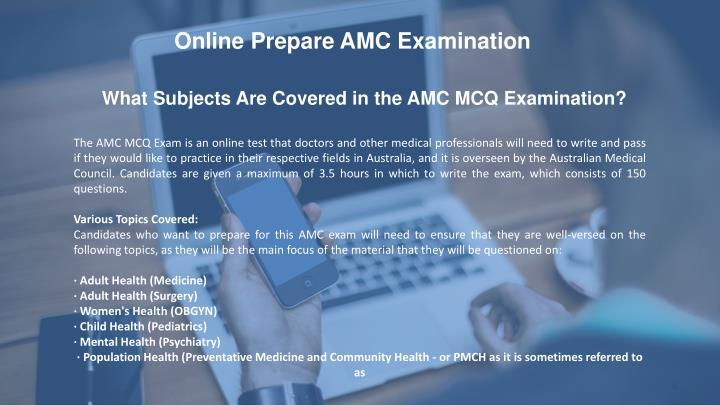 Online Prepare AMC Examination