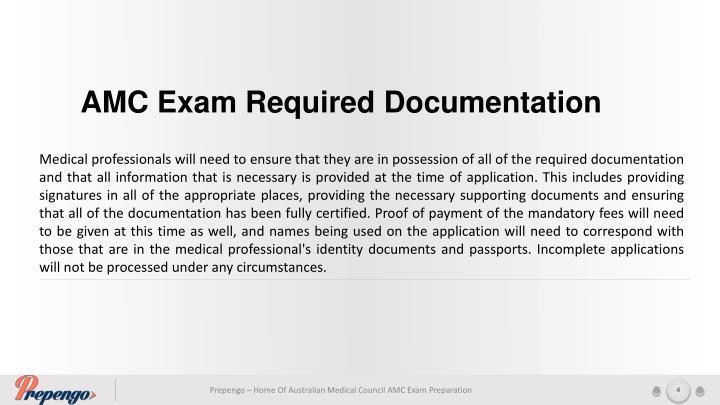 AMC Exam Required