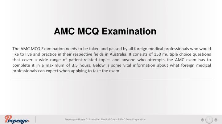 AMC MCQ Examination