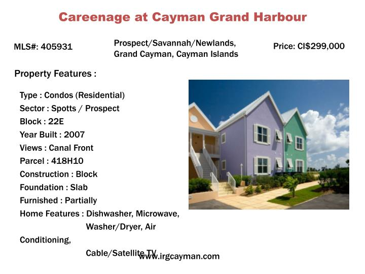 Careenage at Cayman Grand Harbour