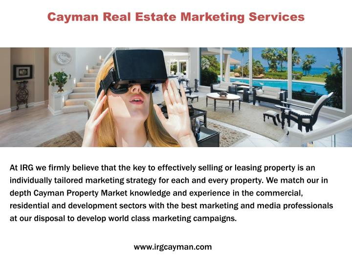 Cayman Real Estate Marketing Services