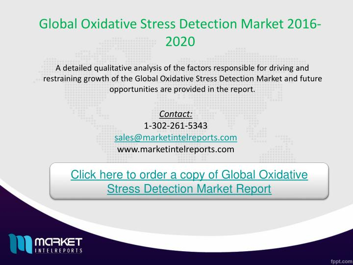 Global Oxidative Stress Detection Market 2016-2020