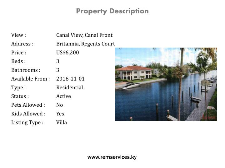 Property Description